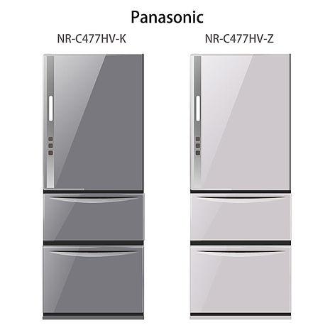 【Panasonic.國際牌】ECONAVI.468L三門變頻電冰箱/水晶紫(NR-C477HV)-家電.影音-myfone購物