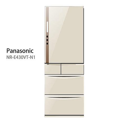 【Panasonic.國際牌】日本進口ECONAVI。430L五門變頻電冰箱/香檳金(NR-E430VT)