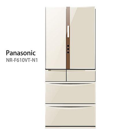 【Panasonic.國際牌】日本進口ECONAVI。608L六門變頻電冰箱/香檳金(NR-F610VT)