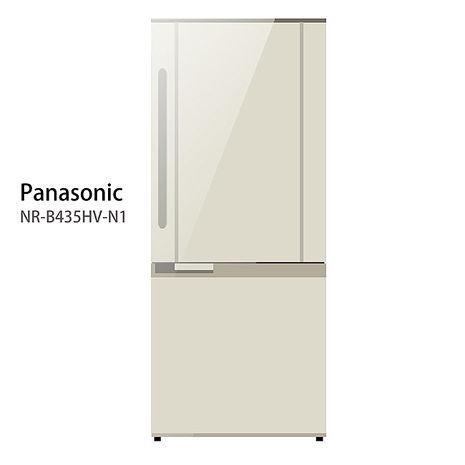 【Panasonic.國際牌】435L變頻雙門電冰箱/琥珀金(NR-B435HV)
