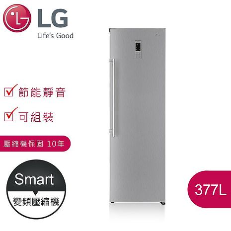 獨家好禮贈【LG樂金】377L 變頻單門冷藏冰箱 / 精緻銀(GR-R40SV)