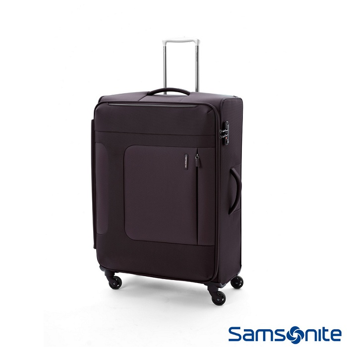 Samsonite 新秀麗 28吋 Asphere可擴充布面軟殼行李箱 (黑)
