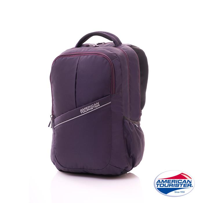 AT美國旅行者 Citi-Pro極度輕盈反光條紋筆電後背包(紫)