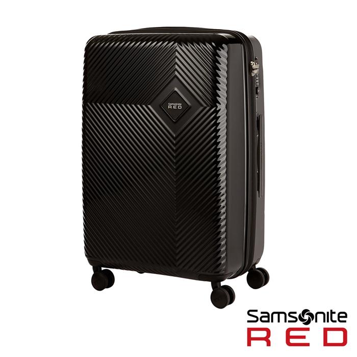 Samsonite RED 25吋KHARRIS 放射線型光澤硬殼TSA行李箱(黑)