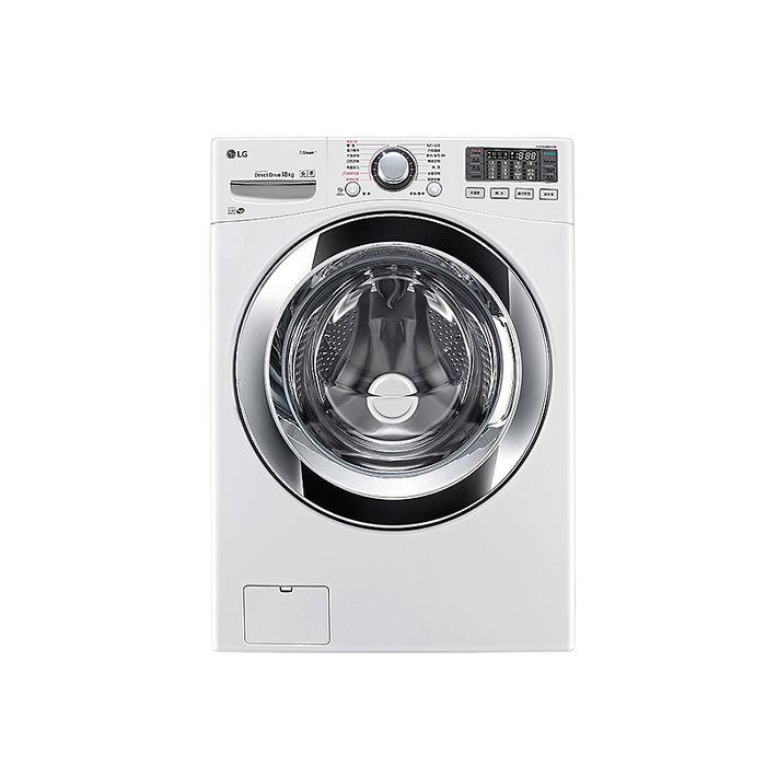 LG WiFi滾筒洗衣機(蒸洗脫) 典雅白 / 18公斤WD-S18VBW(含基本安裝) (促銷)
