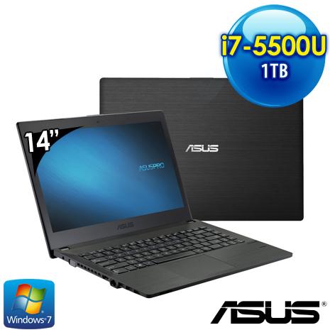 ASUS P2420LJ-0121A5500U 14吋 筆電(i7-5500U/8G/2G獨/1T/Win7pro)