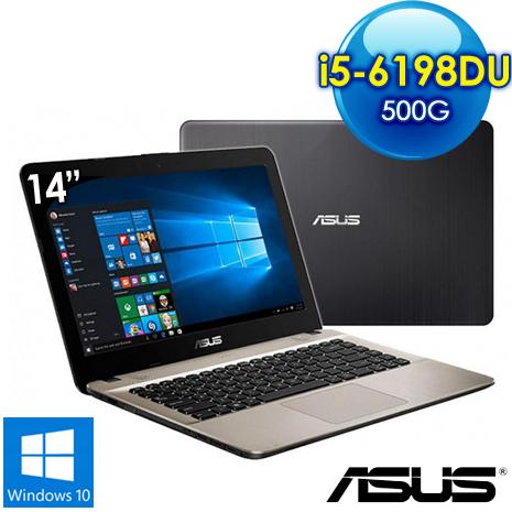 【福利品】ASUS X441UV-0031A6198DU 14吋筆電i5-6198DU/4G/2G獨/500G/Win10