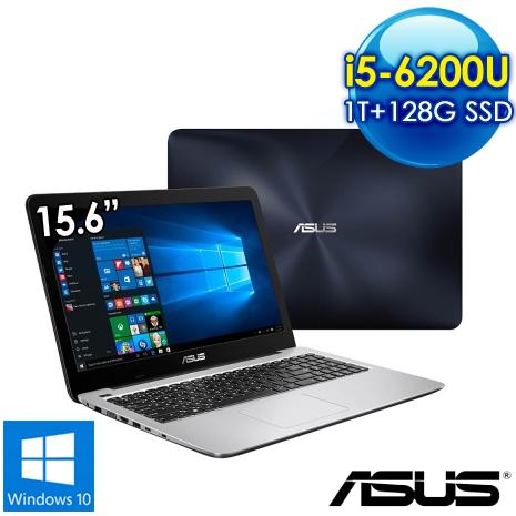 全新出清品 ASUS K556UQ-0081B6200U 15.6吋筆電(i5-6200U/4G/2G獨/1T+128G SSD/Win10/霧面深藍)