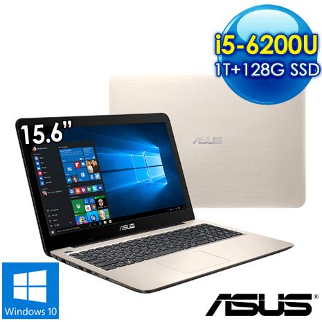 全新出清品 ASUS K556UQ-0151C6200U 15.6吋筆電(i5-6200U/4G/2G獨/1T+128G SSD/Win10/霧面金)