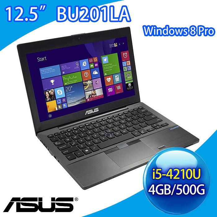 【福利品】ASUS 商用筆電 BU201LA:12.5吋FHD i5-4210U 4G/500G Win8.1專業版 2年保
