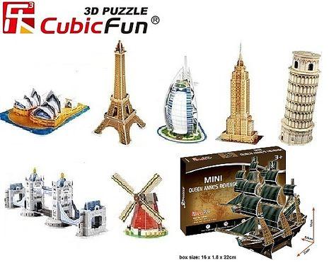 【海夫健康生活館】樂立方3D立體拼圖8款 兒童玩具 迷你建築模型 風靡歐美杜拜帆船酒店