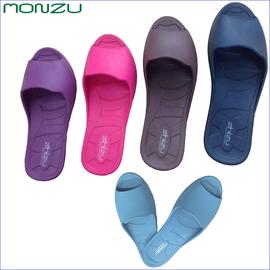 【MONZU】 滿足零著感魚口室內拖鞋桃紅 L (27cm)