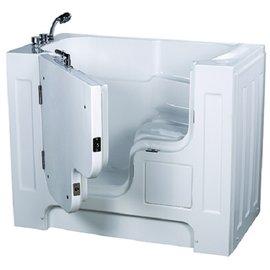【海夫健康生活館】開門式浴缸 大開口 115-T 恆溫水柱按摩款 (132*740*112cm)