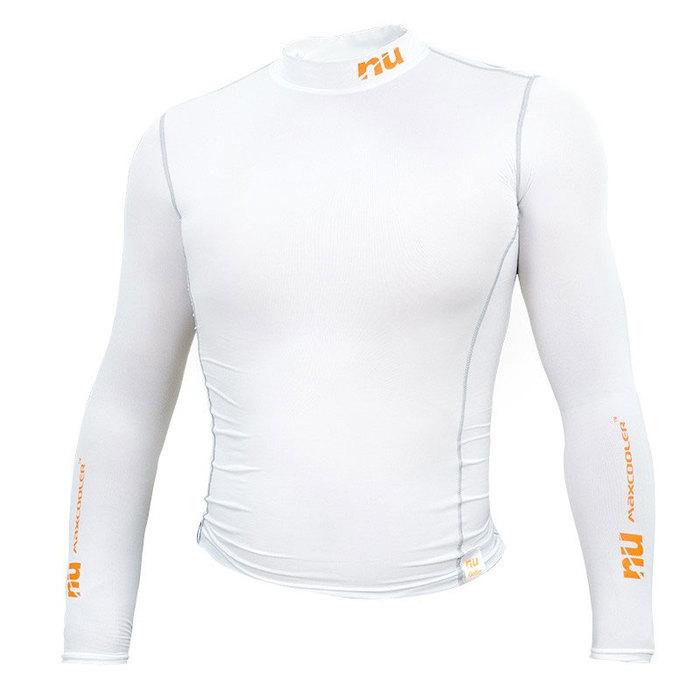 【恩悠數位】NU 冰紗緊身衣男款白色M