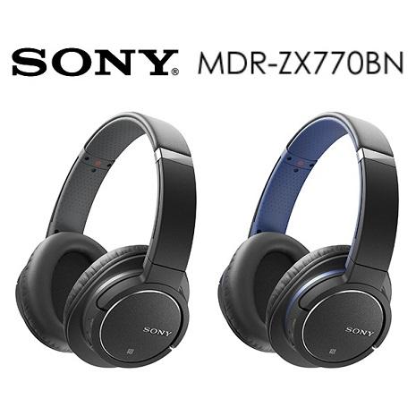 SONY MDR-ZX770BN 無線藍牙降躁耳罩式耳機-3C電腦週邊-myfone購物