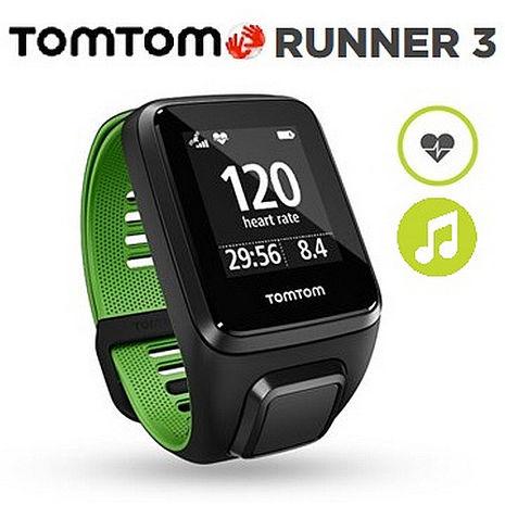 TOMTOM RUNNER 3 超越者 旗艦款心率+音樂 GPS跑步運動錶S/短錶帶