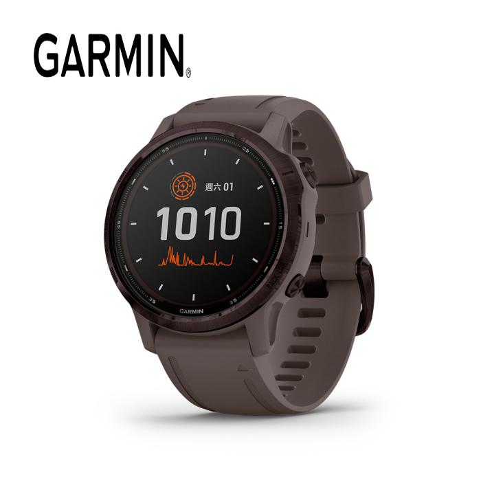GARMIN Fenix 6 S Pro Solar 太陽能系列 - 進階複合式戶外GPS腕錶 -紫晶錶圈/岩灰色錶帶:010-02409-23