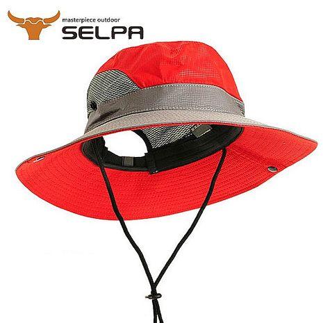 【韓國SELPA】可折疊透氣速乾遮陽帽/漁夫帽/登山帽 (紅色)-服飾‧鞋包‧內著‧手錶-myfone購物