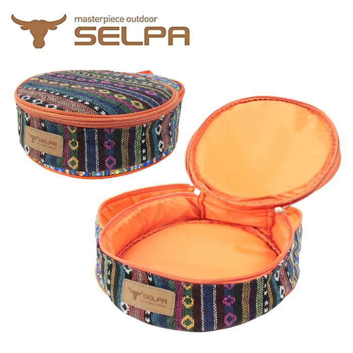 【韓國SELPA】民族風加厚餐盤收納包/露營/登山/野餐-網