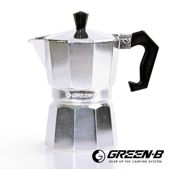 【韓國GREEN-B】 經典義式摩卡咖啡壺 3人份 露營/居家/拿鐵/咖啡