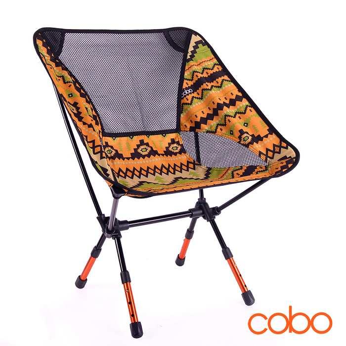 【韓國COBO】輕量便攜三段式民族風摺疊椅 月亮椅 戶外/露營/釣魚/烤肉/旅遊