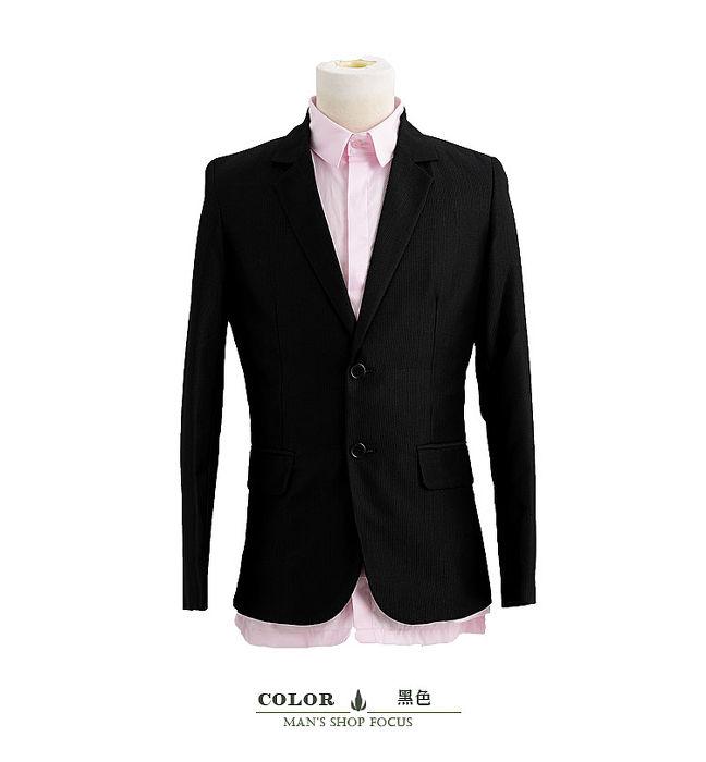 【男人幫】細黑條腰身美型版西裝外套(C5314)S