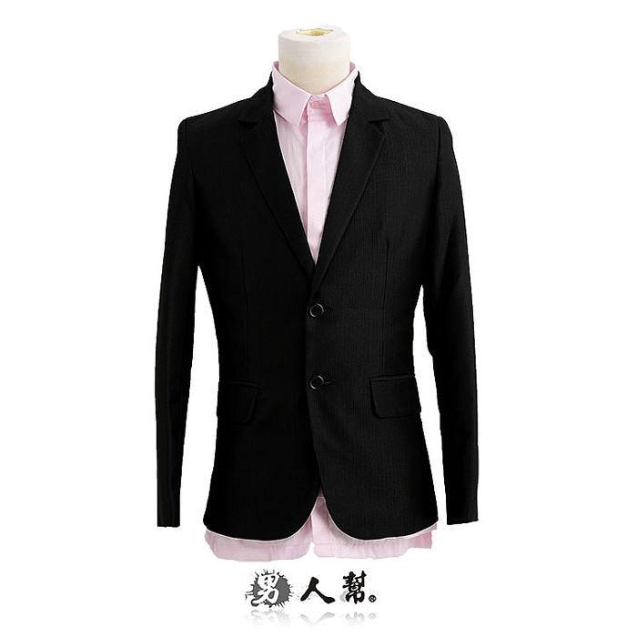 【男人幫】細黑條腰身美型版西裝外套(C5314)