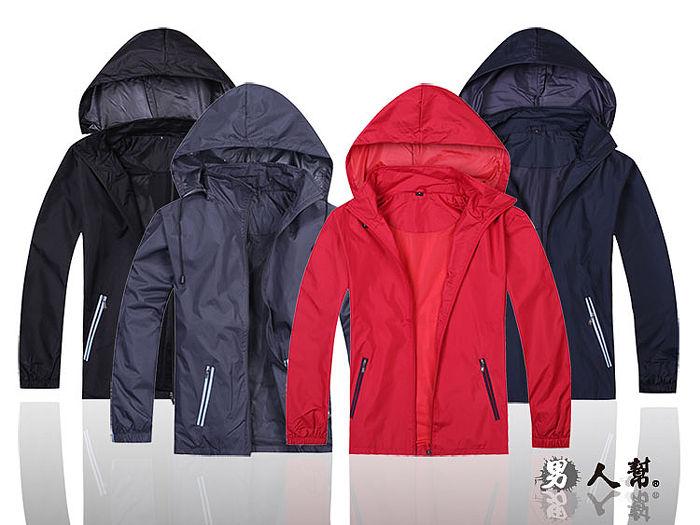 【男人幫 】P9988*防潑水時尚【多功能連帽外套】黑色S