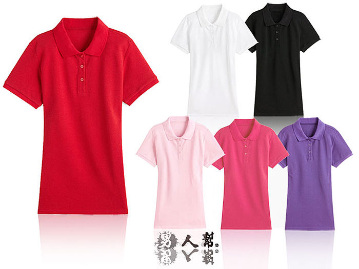 【男人幫】P1668*素面排汗POLO衫【時尚女版POLO衫】領口加厚大紅色5L