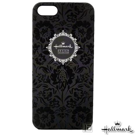 美國品牌【Hallmark】iPhone5/5S 彩繪手機保護殼-黑色天鵝絨(WSH092)