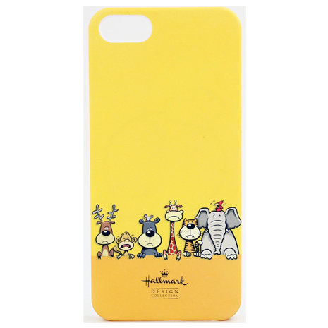 美國品牌【Hallmark】iPhone5/5S 彩繪手機保護殼-開心動物園(WSH130)