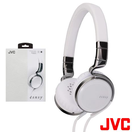 【JVC】時尚潮系列《esnsy》高音質頭戴式立體聲耳機 HA-SR75S/W 附MIC(白色)-3C電腦週邊-myfone購物