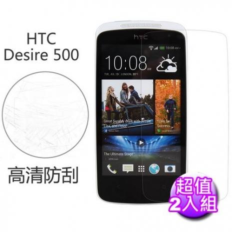 【Myshell】 HTC Desire 500 高清防刮保護貼-2入組