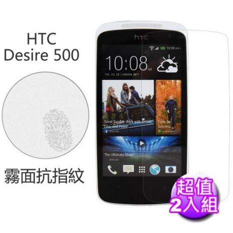 【Myshell】 HTC Desire 500 霧面抗指紋保護貼-2入組