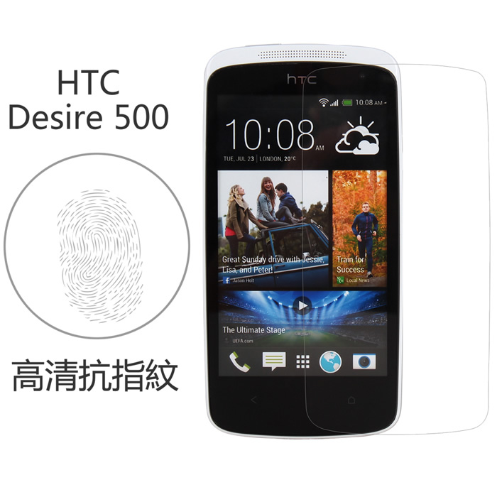 【Myshell】 HTC Desire 500 高清抗指紋保護貼