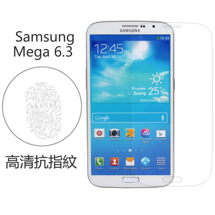 【Myshell】Samsung Galaxy Mega 6.3 高清抗指紋保護貼