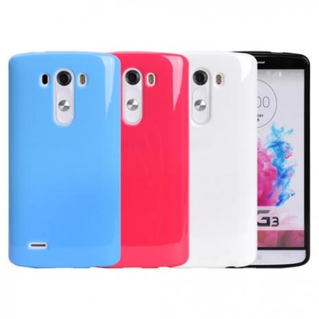 【Myshell】LG G3 亮麗全彩軟質保護殼玫紅