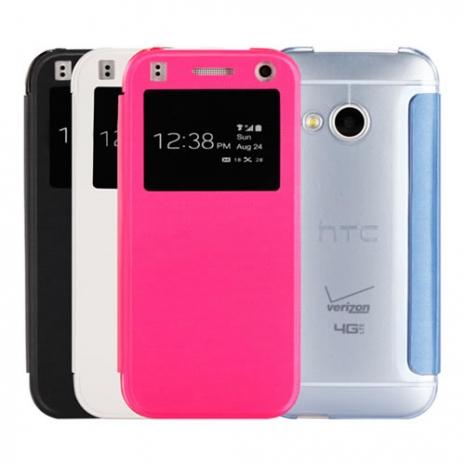 【Myshell】HTC One mini2 (M8 mini) 髮絲紋極致超薄來電顯示皮套