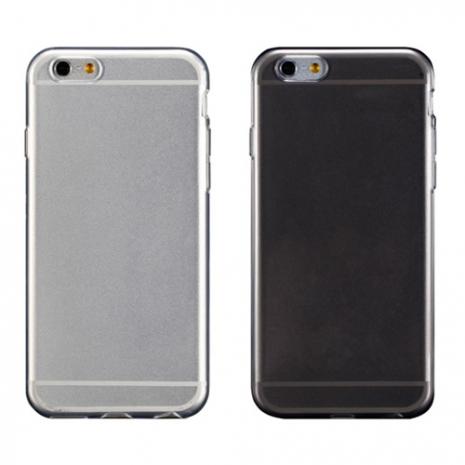 【Myshell】Apple iPhone 6/6S (4.7吋) 清新全透軟質保護殼透黑