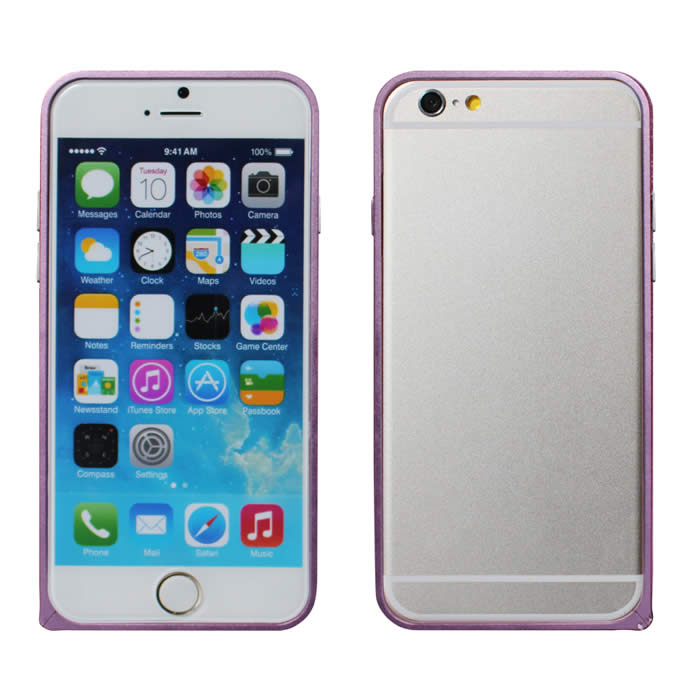 【Myshell】Apple iPhone6 Plus(5.5吋) 輕量圓弧海馬扣金屬保護邊框鐵灰