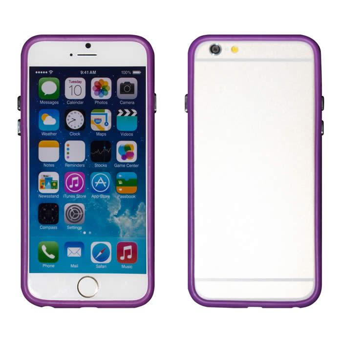 【Myshell】Apple iPhone 6 Plus (5.5吋) 俏麗亮彩雙色保護邊框黑色