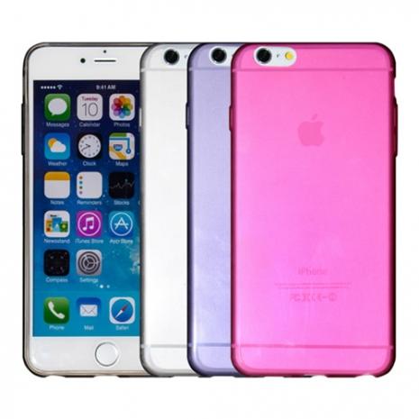 【Myshell】Apple iPhone 6/6S Plus (5.5吋) 清新彩透軟質保護殼透黑