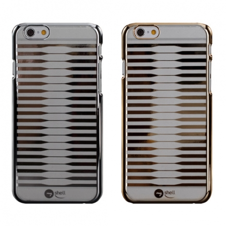 【Myshell】 Apple iPhone 6 Plus (5.5吋) 感性波浪超薄電鍍硬質保護殼金屬銀