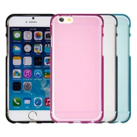 【Myshell】Apple iPhone 6/6S (4.7吋) 輕量氣質軟質保護殼霧黑