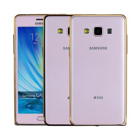 【Myshell】Samsung A5 簡約輕量雙色海馬扣金屬保護邊框黑