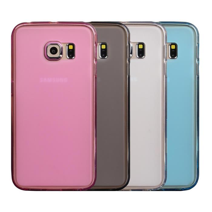 【Myshell】Samsung S6 edge 輕量氣質軟質保護殼霧黑