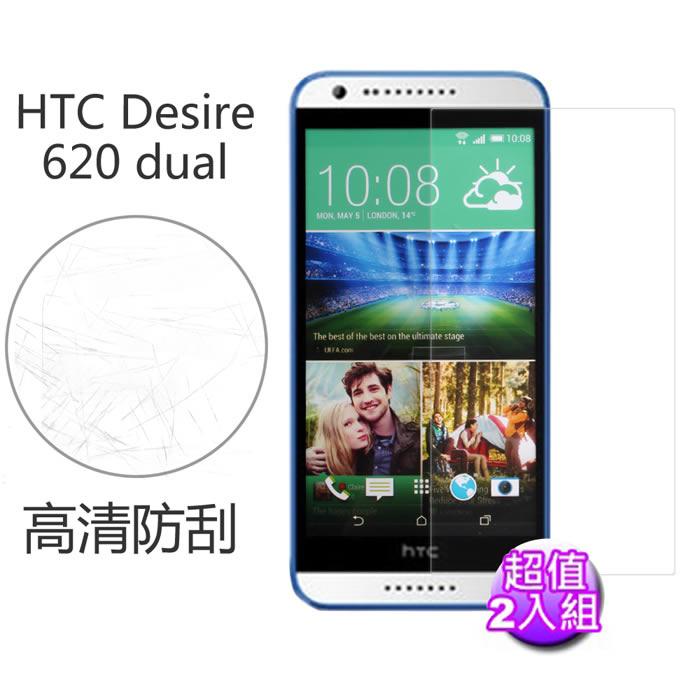 【Myshell】 HTC Desire 620 dual 高清防刮保護貼-2入組