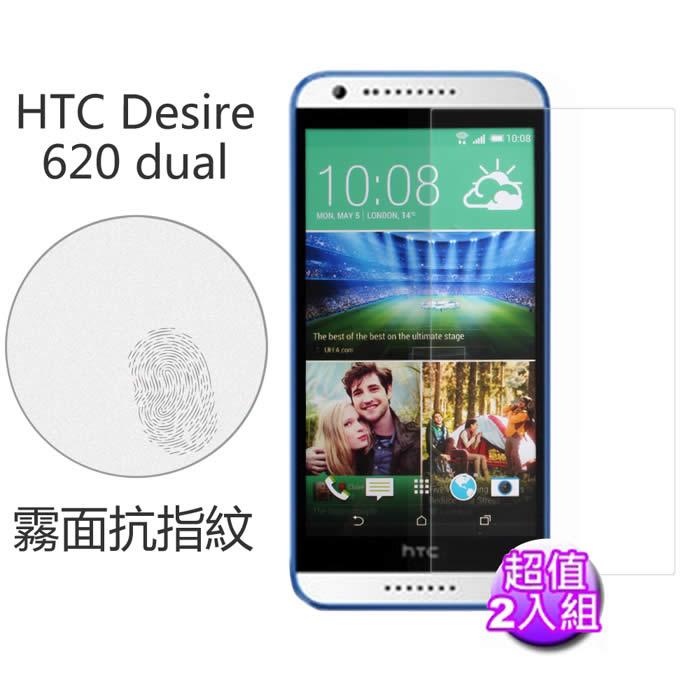 【Myshell】 HTC Desire 620 dual 霧面抗指紋保護貼-2入組