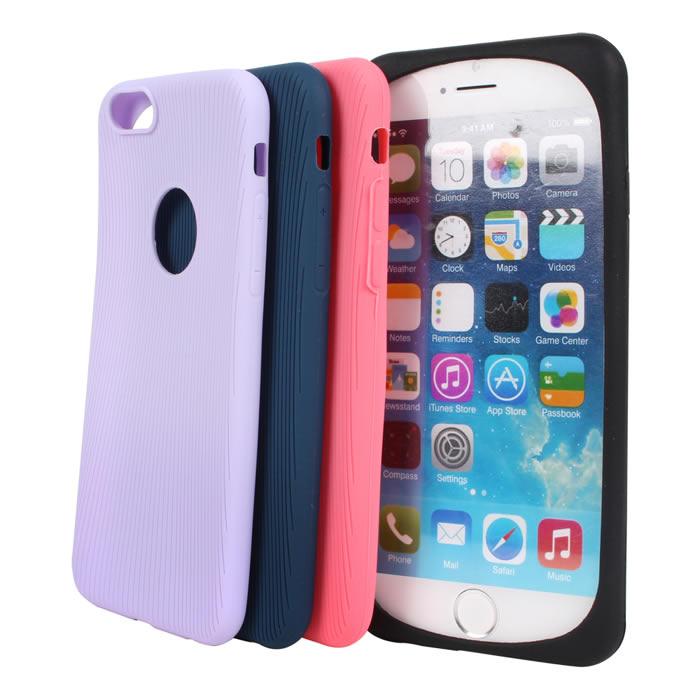 【Myshell】Apple iPhone 6/6S Plus(5.5吋) 手感矽膠全包軟質保護殼玫紅