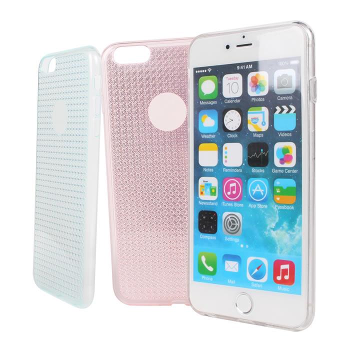 【Myshell】Apple iPhone 6/6S Plus(5.5吋) 氣質滿天星軟質保護殼粉紅
